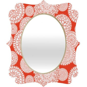 Heather Dutton Delightful Doilies Saffron Quatrefoil Mirror