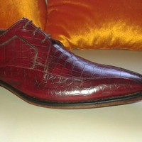 Handmade maroon leather shoes, leather shoes for men, lace up dress shoes