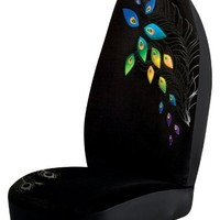 Peacock Bucket Seat Covers (Pair) Black