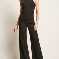 Strappy High-Neck Jumpsuit