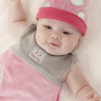 Infant Girl's Baby Aspen 'Snug as a Bug' Wearable Blanket & Hat - Pink