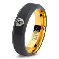 Oakland Raiders Ring Mens Fanatic NFL Sports Football Boys Girls Womens NFL Jewelry Fathers Day Gift Tungsten Carbide 168-Y