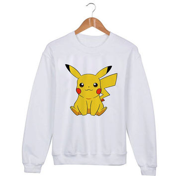 Pikachu Pokemon Sweater sweatshirt unisex adults size S-2XL