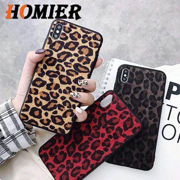 Fashion popular Tiger Leopard Print Panther fur Phone Case For iPhone 7 plus 6S 6S plus 8 8plus X XS MAX XR Mobile phone case