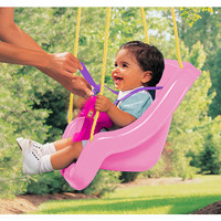 Little Tikes 2-in-1 Snug 'N Secure Swing - Pink - Little Tikes 1001284 - Swings - FAO Schwarz®