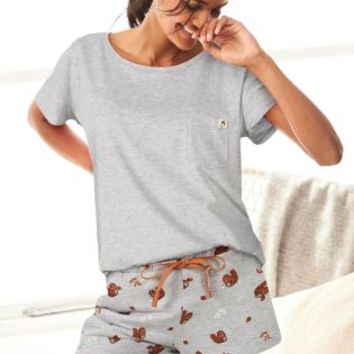 Buy Grey Squirrel Print Sleep Set from the Next UK online shop