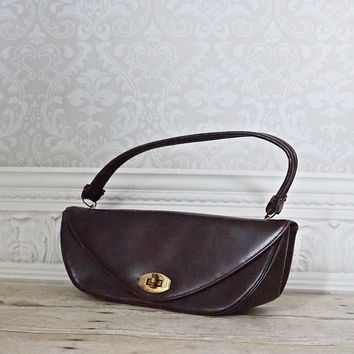 Vintage 1950s Crescent Handbag + Bag