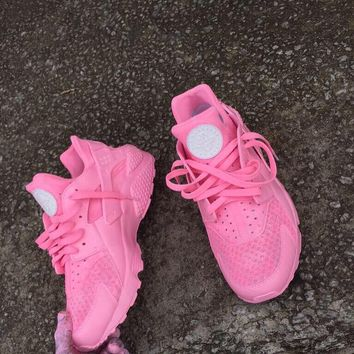 Pink Huaraches 5-12 men's and women's