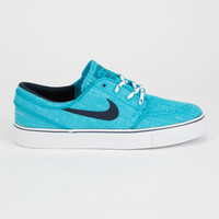 Nike Sb Stefan Janoski Canvas Boys Shoes Blue Lagoon/Obsidian White  In Sizes