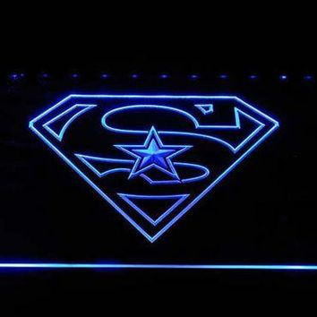 Dallas Cowboys: Super Hero LED Neon Sign