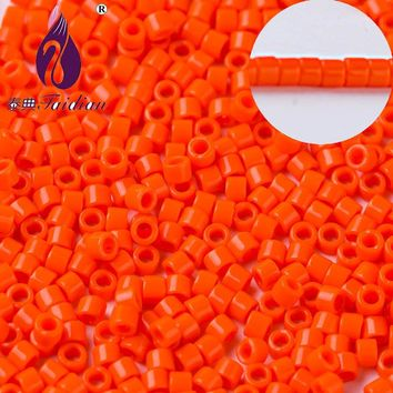 Taidian Ceramic Seed beads  Neon Orange Delica beads For Beading made in Japan DB722 1.6MM 10 grams/lot/about200pcs/1g