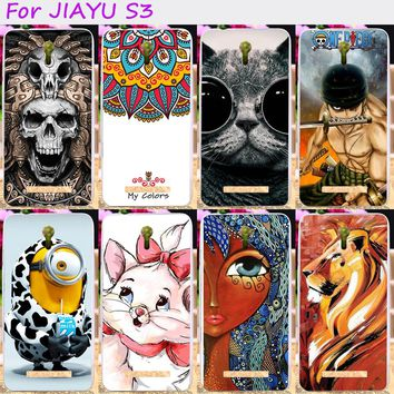 TAOYUNXI Soft TPU Rubber Cool Skull Cute Minions Phone Cases For JIAYU S3 5.5 inch Phone Cover Silicone Accessories
