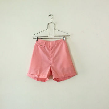 Vintage 1980s Woolrich Women's High Yolk Waisted Pink Shorts Made in the USA 27 Waist