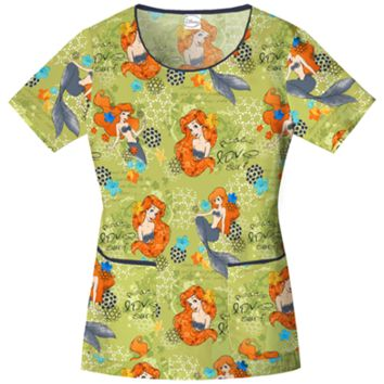 Woman's Disney Print Scrubs - Bambi Scrub Tops - Winnie The Pooh Scrub - Uniform Country