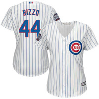 Majestic Anthony Rizzo Chicago Cubs Women's White 2016 World Series Bound Home Cool Base Player Jersey
