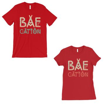 BAEcation Vacation Matching Couple T-Shirts Gift Red For Honeymoon