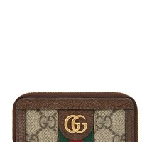 Gucci Ophidia GG Supreme Zip-Around Key Case | Nordstrom