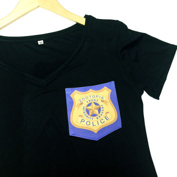 Zootopia ZPD Pocket Shirt | Zootopia Police Department | Pocket Tee