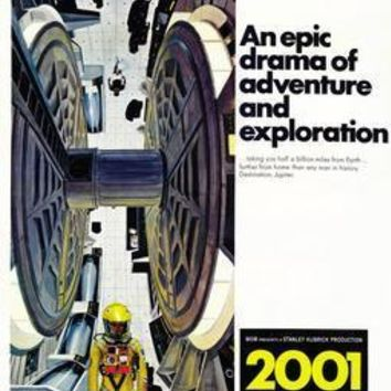 2001 A Space Odyssey Movie poster Metal Sign Wall Art 8in x 12in