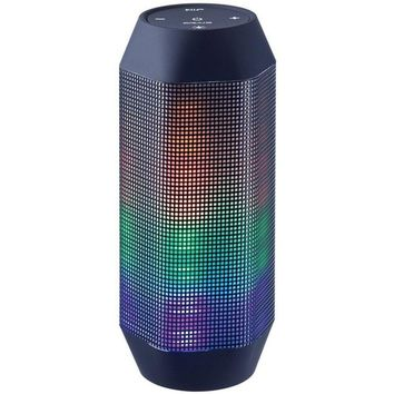Craig Electronics CMA3594 Stereo Portable Bluetooth Speaker with Color Charging LED Lights - Black