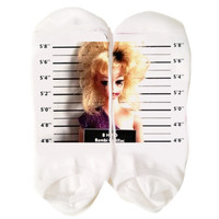 Barbie Mugshot Socks