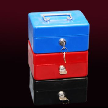 Cash Box with Money Tray Lock  Key Steel for Cashier Drawer Money Safe Security