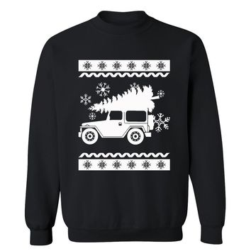 Jeep Cherokee Jeepmas Cute Funny Christmas Ugly Sweater Holiday X-mas Party Crewneck for Men and Women