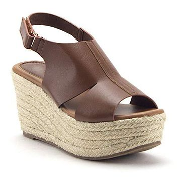 Women's Flatform Espadrilles Platform Sling Back Wedges Sandals Shoes