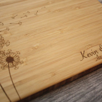 Personalized Cutting Board Wedding - Engraved Cutting Board - Custom Wedding Gift