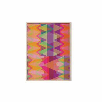 "Miranda Mol ""Triangle Fun"" Pink Multicolor KESS Naturals Canvas (Frame not Included)"