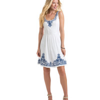 Embroidered Fit N Flare Dress