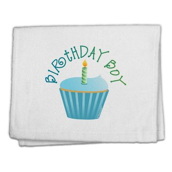 "Birthday Boy - Candle Cupcake 11""x18"" Dish Fingertip Towel by TooLoud"