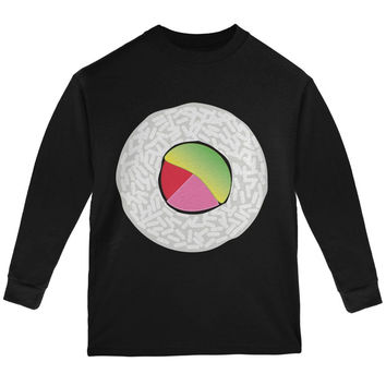 Halloween Sushi Costume 2 Black Youth Long Sleeve T-Shirt
