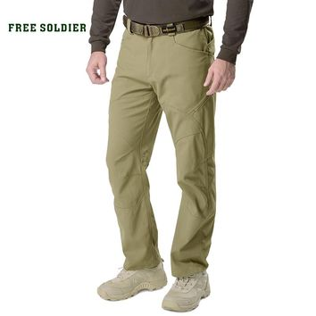 FREE SOLDIER outdoor sports camping tactical military pants scratch- resistants pants with multiple pockets for men