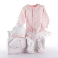 Graceful Beauties Cozy Baby Booties and Uniform Ballerina Theme Baby Clothing Gift Set | Girl Baby Shower Gift: Everything Else