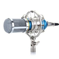 Excelvan® Condenser Sound Studio Recording Microphone Mic Ideal for Radio Broadcasting Studio, Voice-over Sound Studio and Recording (Blue)
