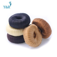 5 Colors Round Girls Women Korean Style Donut Hairpiece Hair Band Rope Coil Updo Maker Stretchy Hair  Accessories