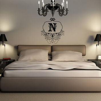 Monogram Chandelier Frame Style A Vinyl Wall Decal 22507