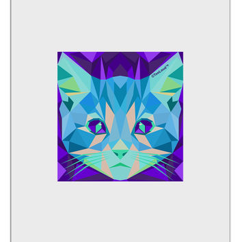 Geometric Kitty Inverted Aluminum Dry Erase Board