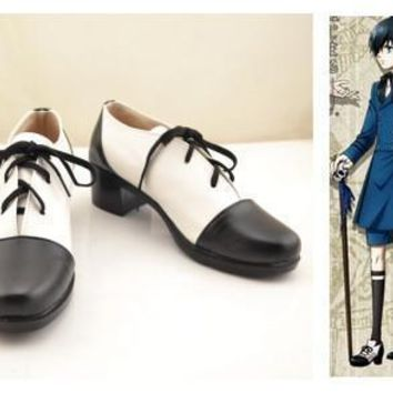 Black Butler Cosplay SHOES Ciel Phantomhive Cosplay Costume Boots Adult Black Butler C