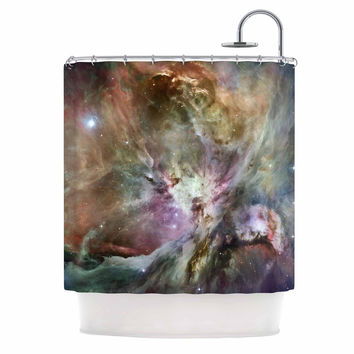 "Suzanne Carter ""Orion Nebula"" Celestial Gray Shower Curtain"