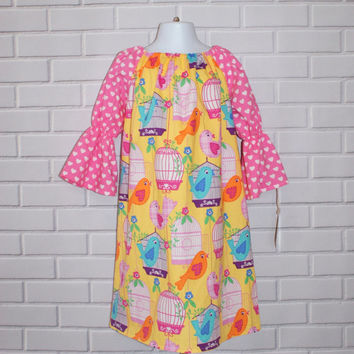 Size 6 Girls Easter Spring Dress Ready to Ship OOAK SALE Boutiqe Clothing By Lucky Lizzy's