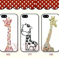 The giraffe, iPhone 5 case iPhone 5c case iPhone 5s case iPhone 4 case iPhone 4s case, Samsung Galaxy S3 \S4 Case--X06