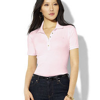 Lauren by Ralph Lauren Top, Jaeden Short Sleeve Polo - Tops - Women - Macy's