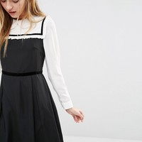 I Love Friday Dress With Peter Pan Collar