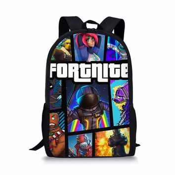 Boys bookbag trendy NOISYDESIGNS 3Pcs/Set Students  Teenager Satchel Children School Bags for Boys Fortnite Game Printed Shoulder Backpack AT_51_3