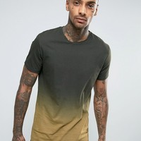 Religion Longline T-Shirt with Faded Color Print at asos.com