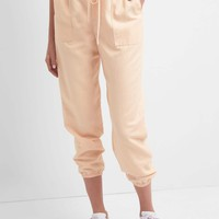 Cotton-linen utility joggers | Gap