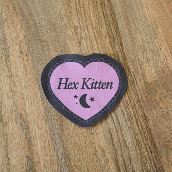 Hex Kitten Patch - Sew On Cloth Patch