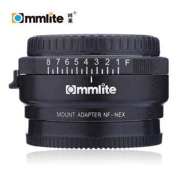 Commlite CM - NF - NEX Electronic Aperture Control Lens Manual Focus Mount Adapter Ring for Nikon Lens to Sony E-mount Camera